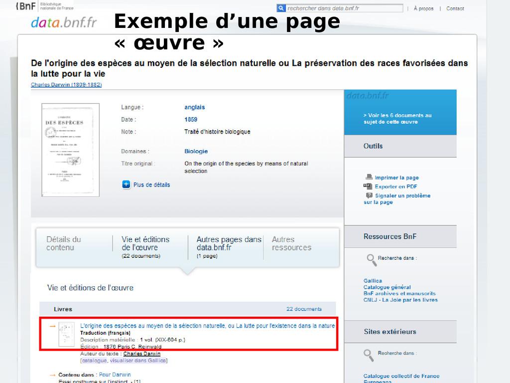 Exemple d'une page « œuvre »