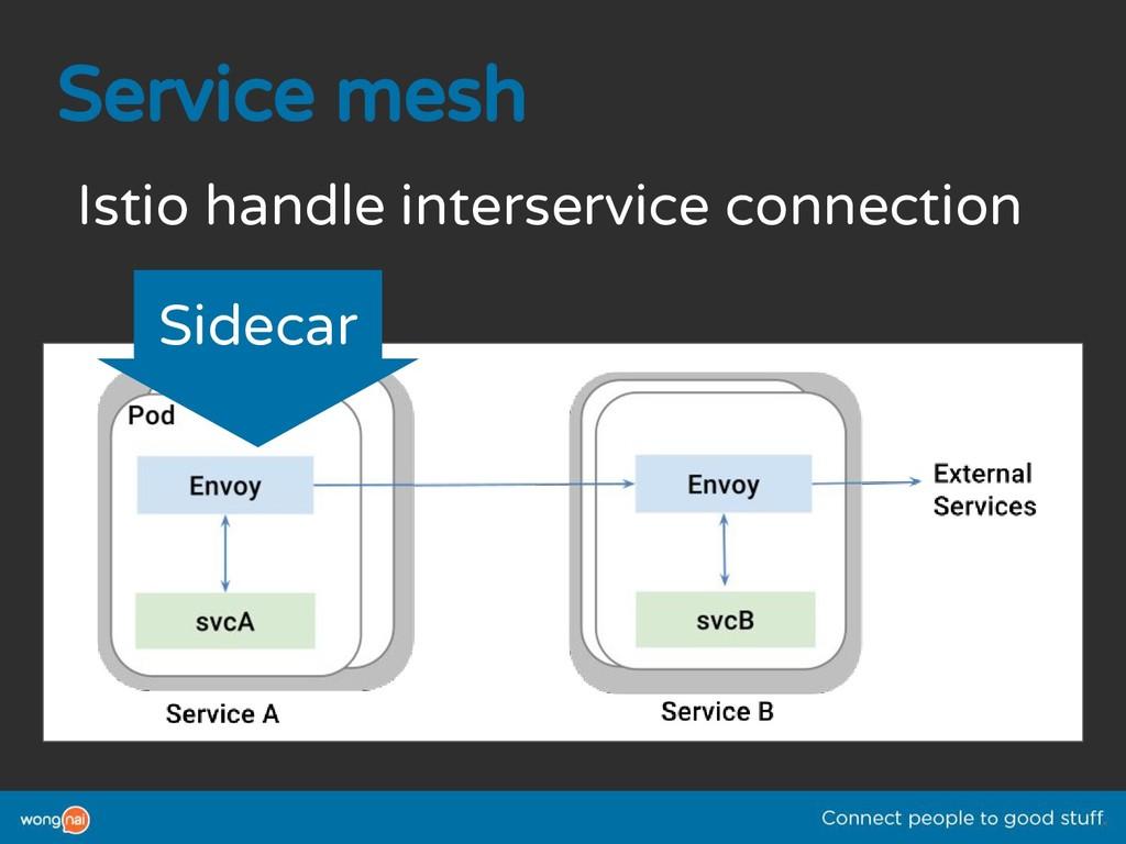 Service mesh Istio handle interservice connecti...
