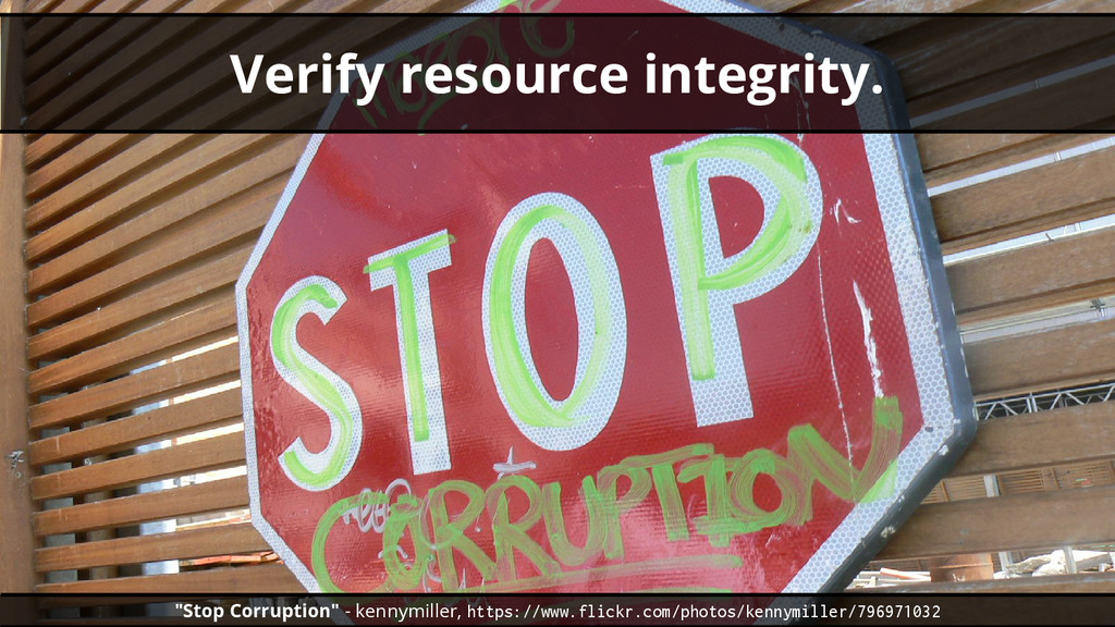 "Verify resource integrity. ""Stop Corruption"" - ..."