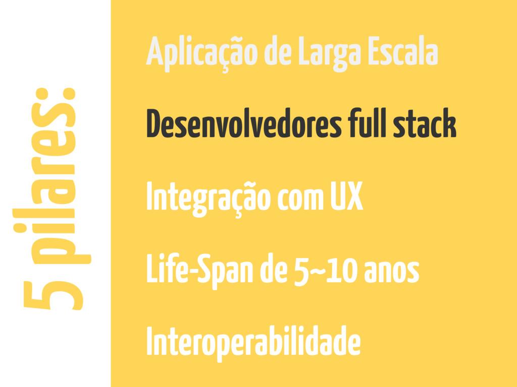 5 pilares: Aplicação de Larga Escala Desenvolve...