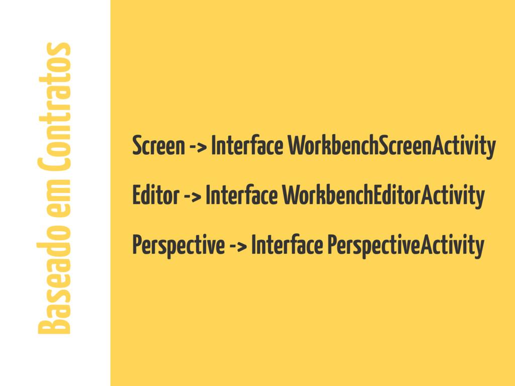 Baseado em Contratos Screen -> Interface Workbe...