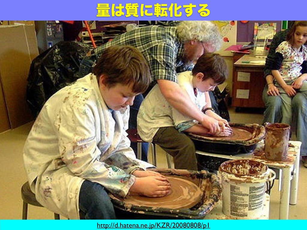 ྔ࣭ʹసԽ͢Δ http://d.hatena.ne.jp/KZR/20080808/p1