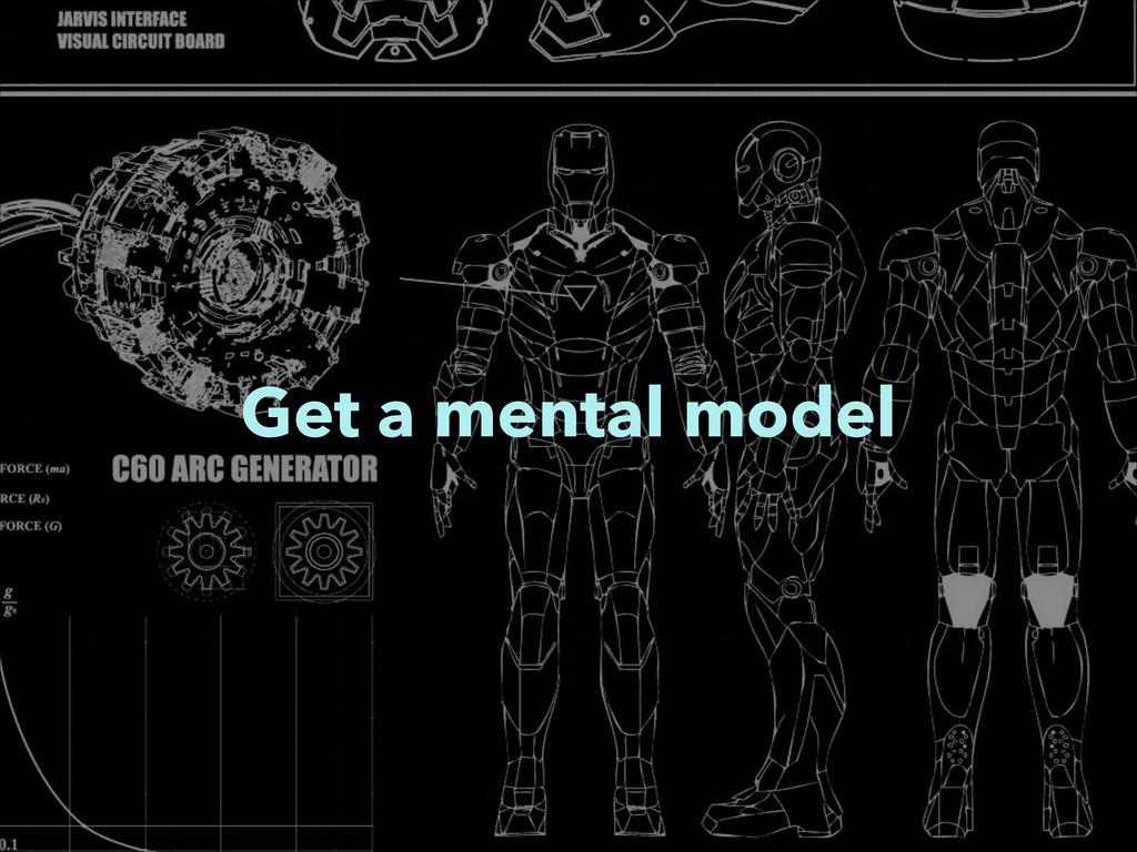 Get a mental model