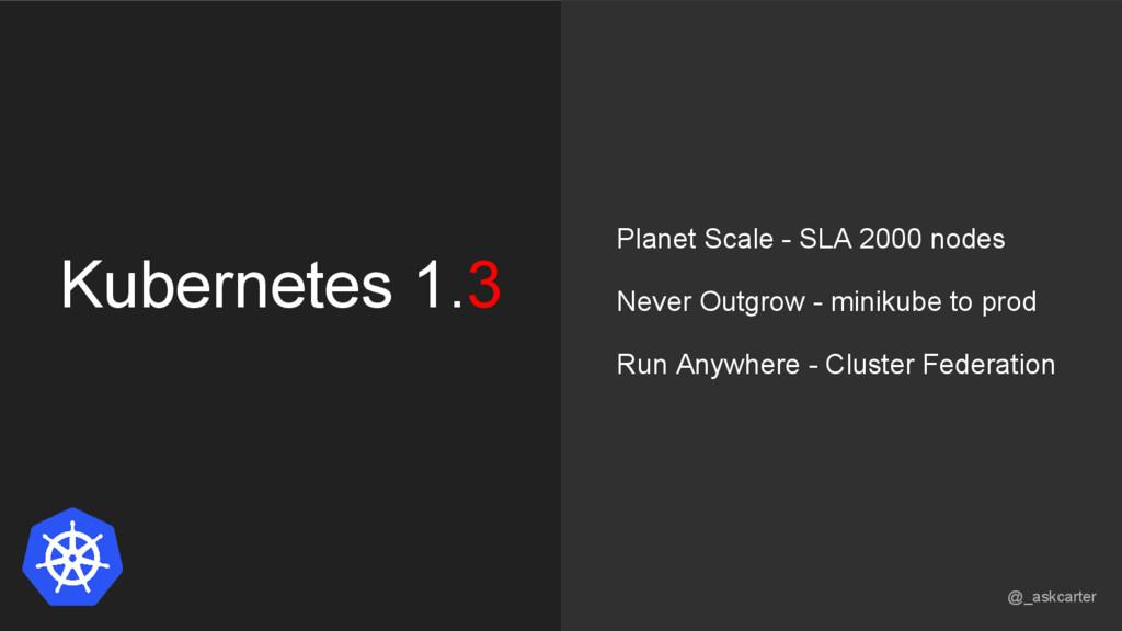Kubernetes 1.3 Planet Scale - SLA 2000 nodes Ne...