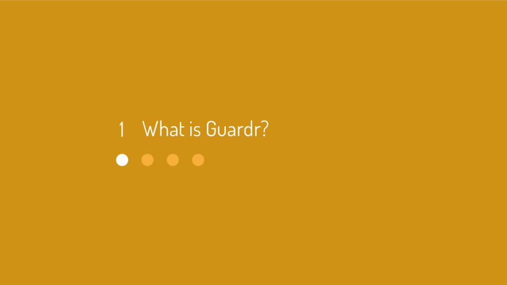 What is Guardr? 1