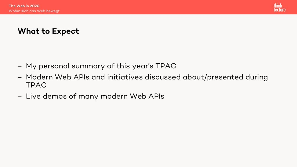 - My personal summary of this year's TPAC - Mod...