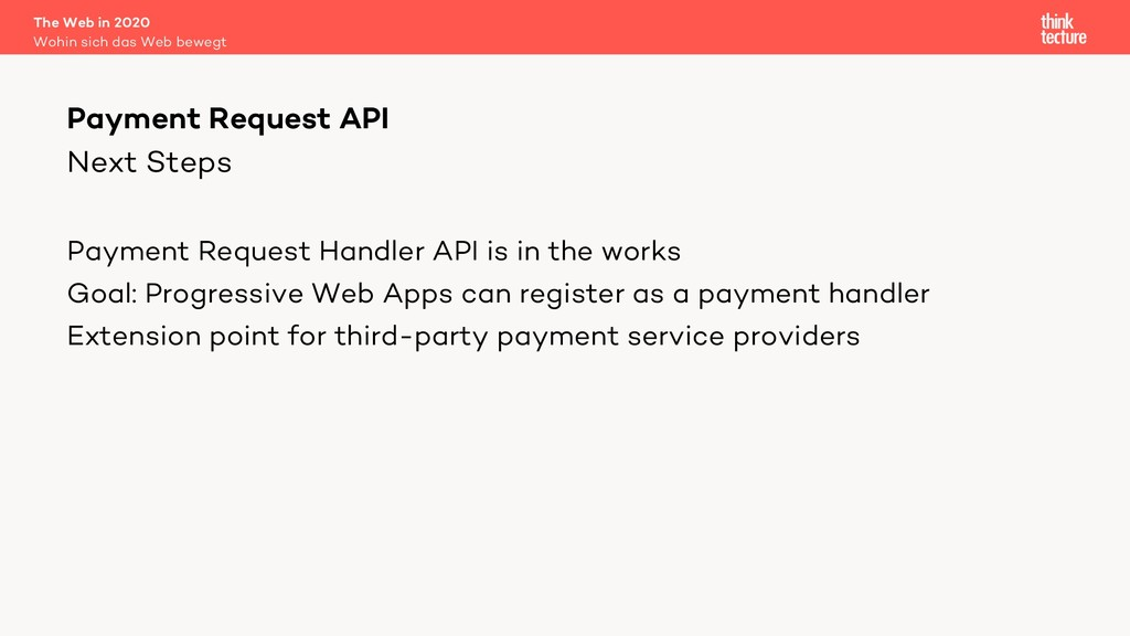 Next Steps Payment Request Handler API is in th...