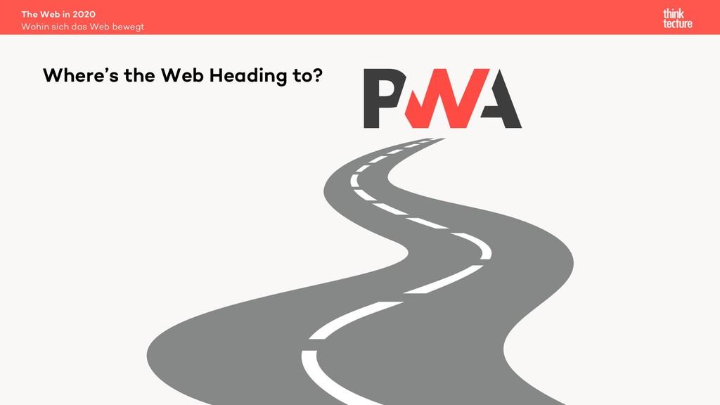 The Web in 2020 Wohin sich das Web bewegt Where...