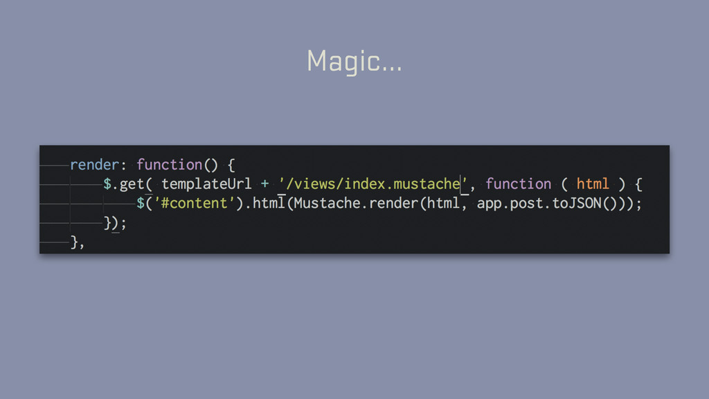 Magic…