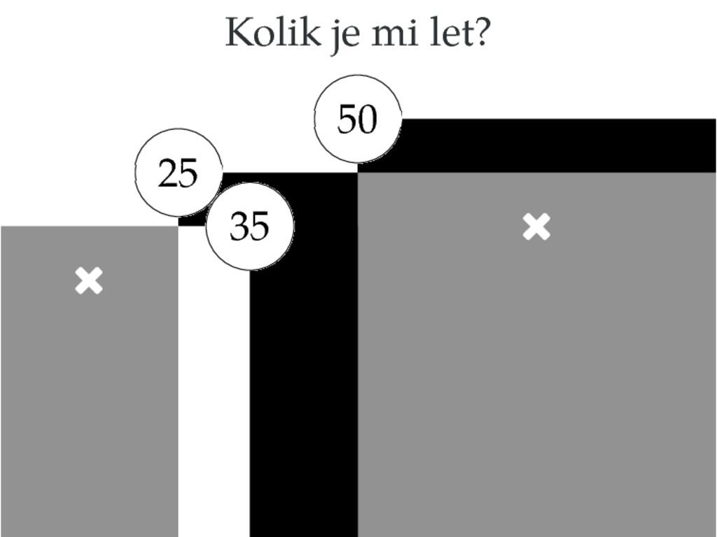 Kolik je mi let? 50  25  35