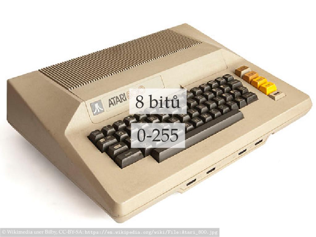 8 bitů 0-255 © Wikimedia user Bilby, CC-BY-SA: ...