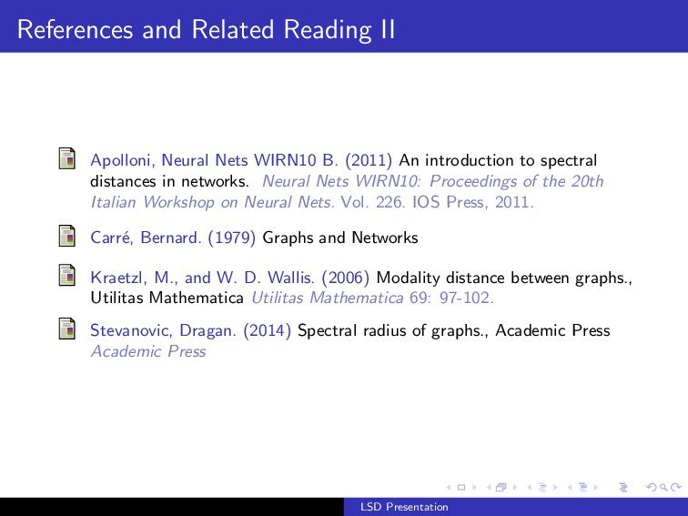 References and Related Reading II Apolloni, Neu...