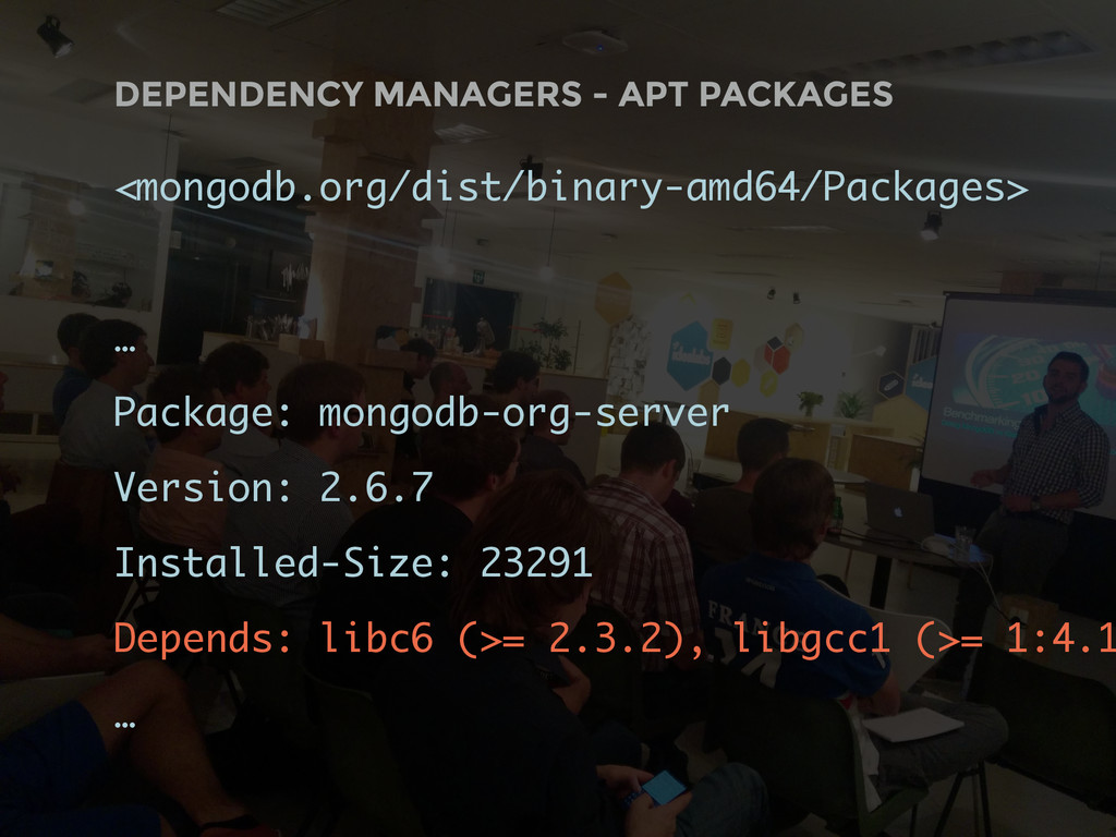 DEPENDENCY MANAGERS - APT PACKAGES <mongodb.org...