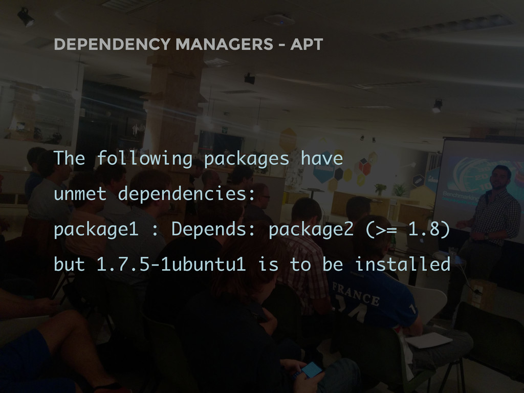 DEPENDENCY MANAGERS - APT The following package...