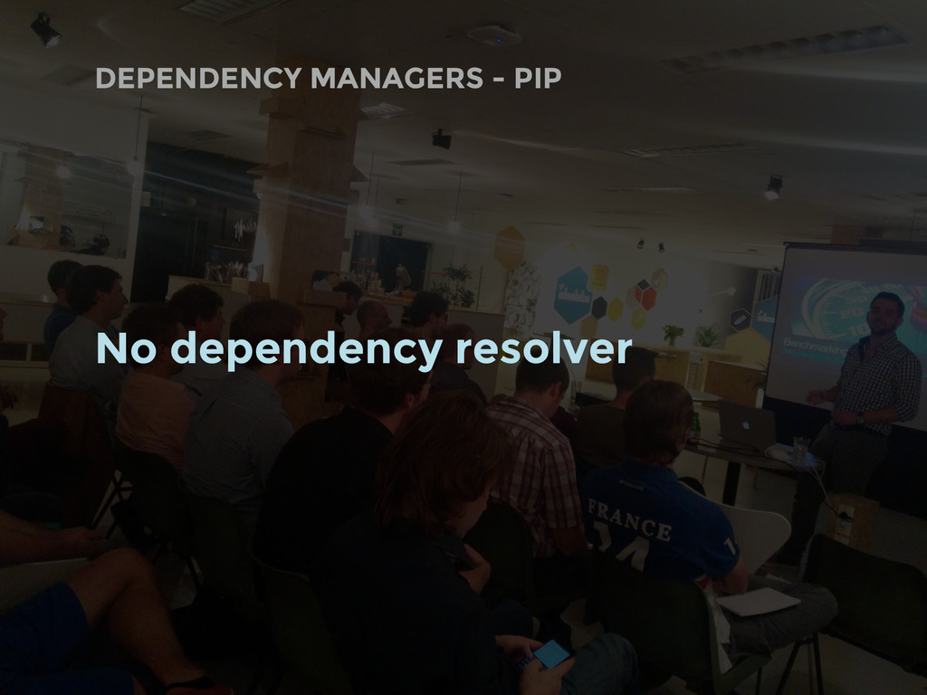 DEPENDENCY MANAGERS - PIP No dependency resolver