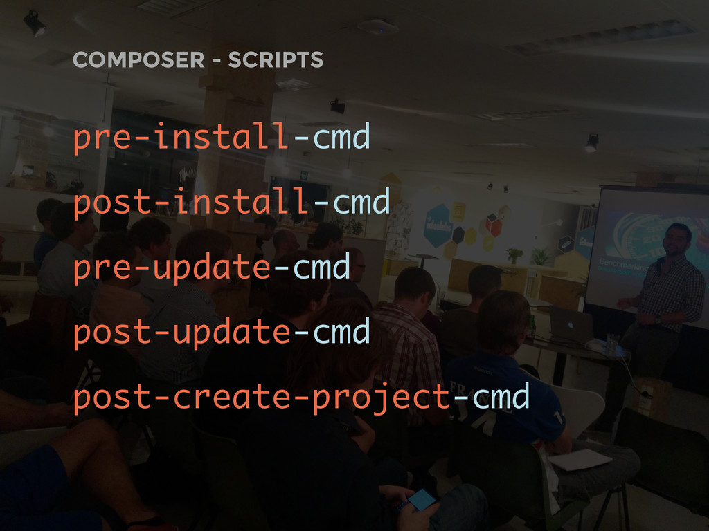 COMPOSER - SCRIPTS pre-install-cmd post-install...
