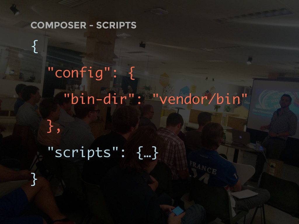 "COMPOSER - SCRIPTS { ""config"": { ""bin-dir"": ""ve..."
