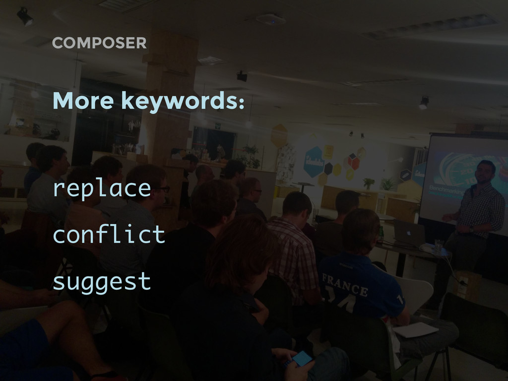 COMPOSER More keywords: replace conflict suggest