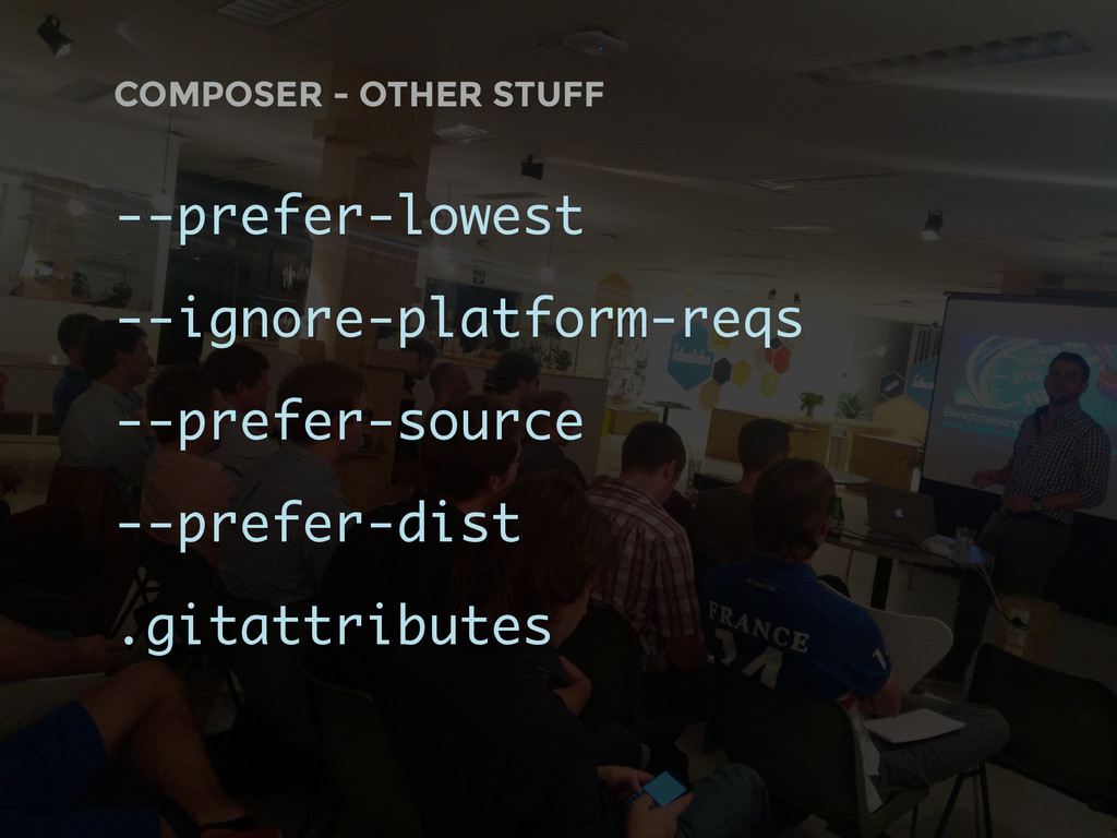 COMPOSER - OTHER STUFF --prefer-lowest --ignore...