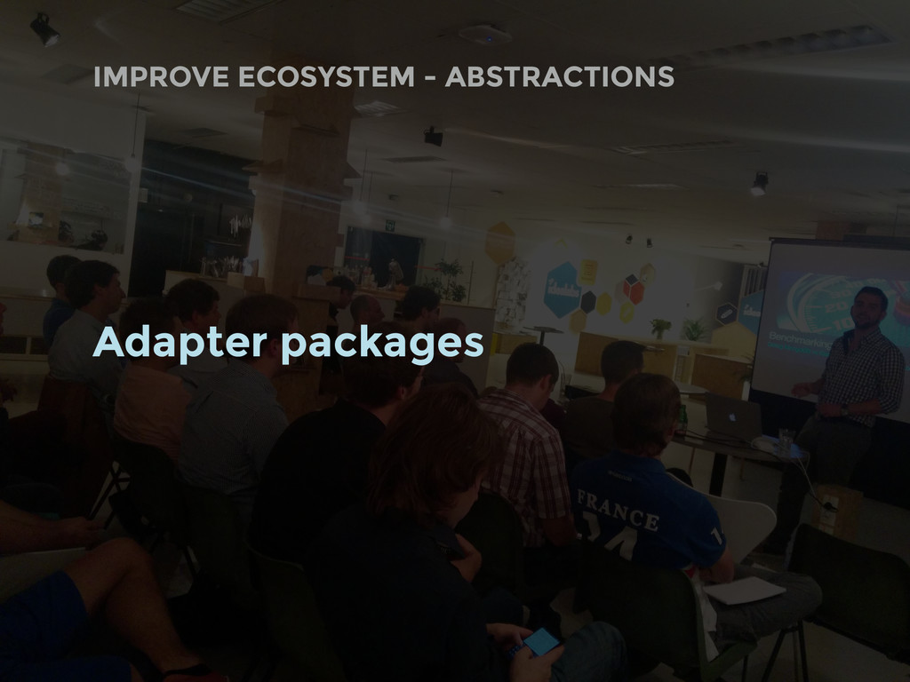 Adapter packages IMPROVE ECOSYSTEM - ABSTRACTIO...
