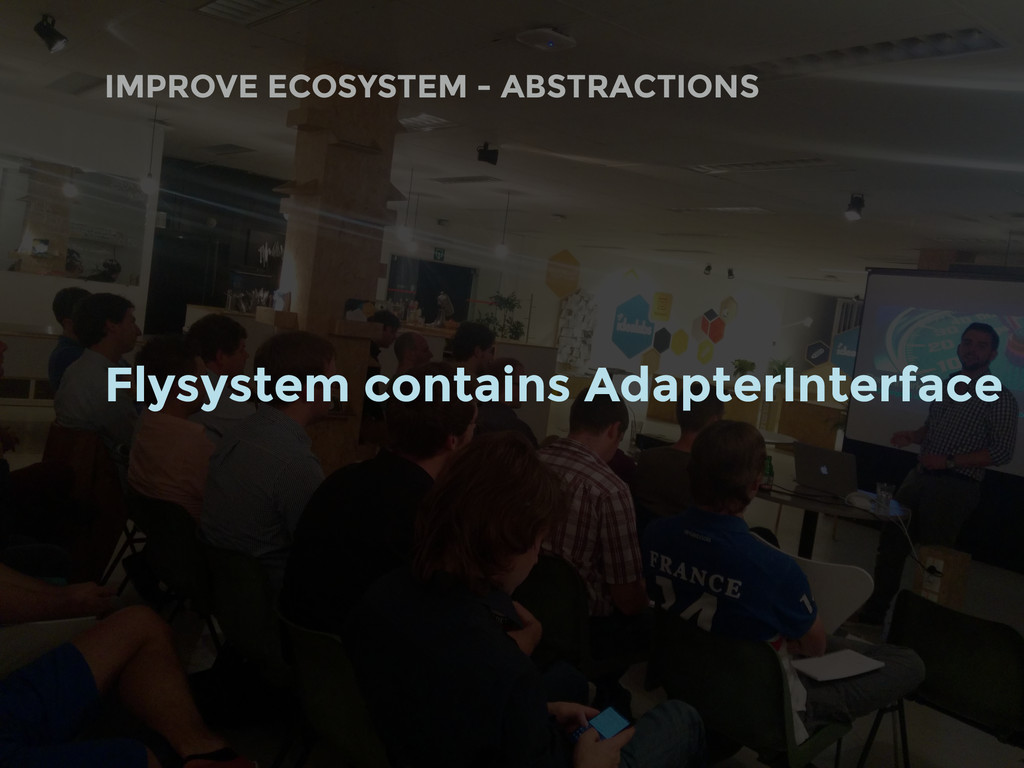 Flysystem contains AdapterInterface IMPROVE ECO...