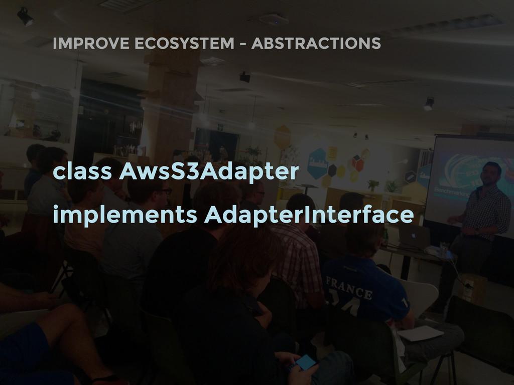 class AwsS3Adapter implements AdapterInterface ...