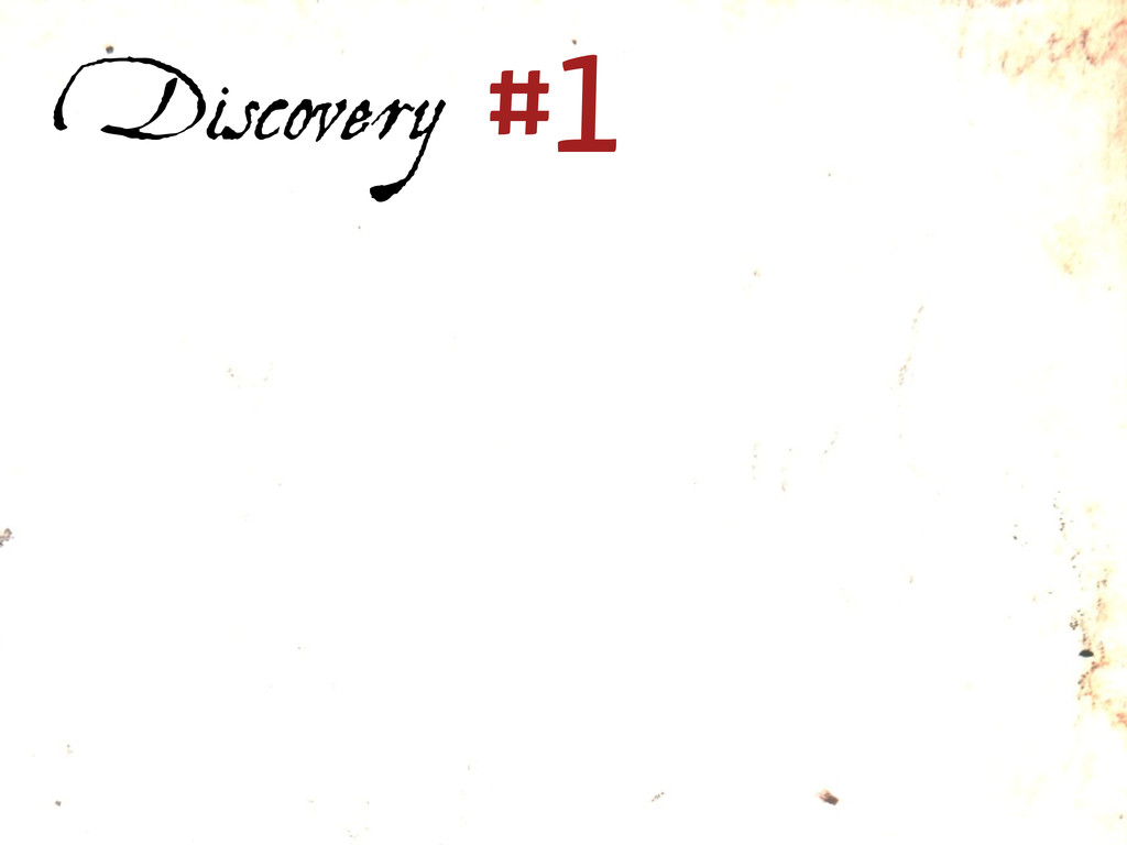 Discovery #1