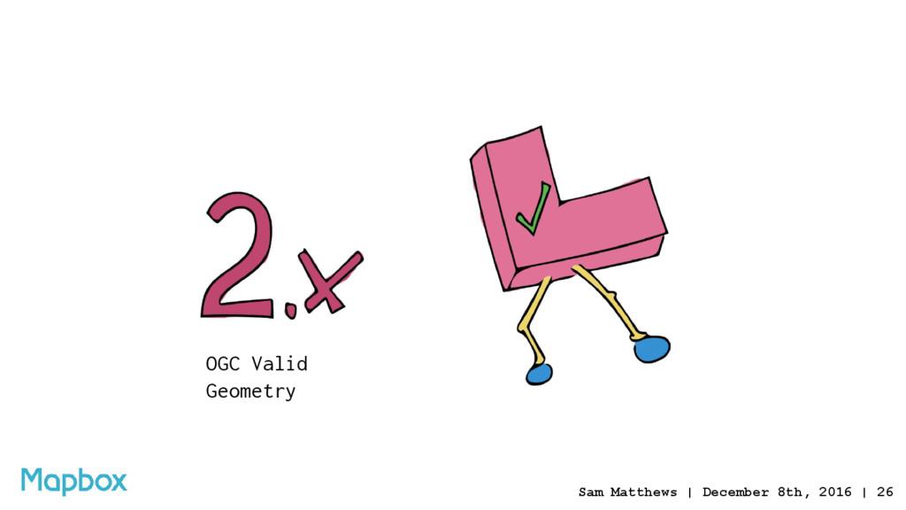 OGC Valid Geometry Sam Matthews | December 8th,...