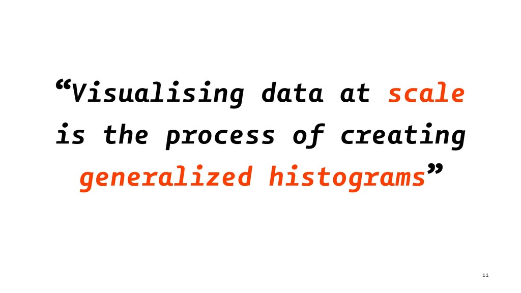 """Visualising data at scale is the process of cr..."
