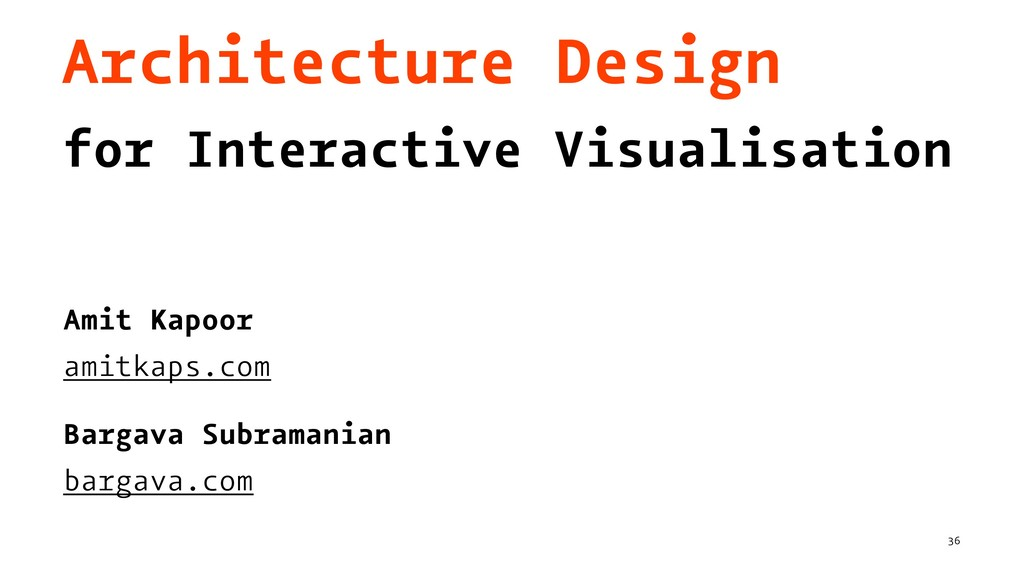 Architecture Design for Interactive Visualisati...