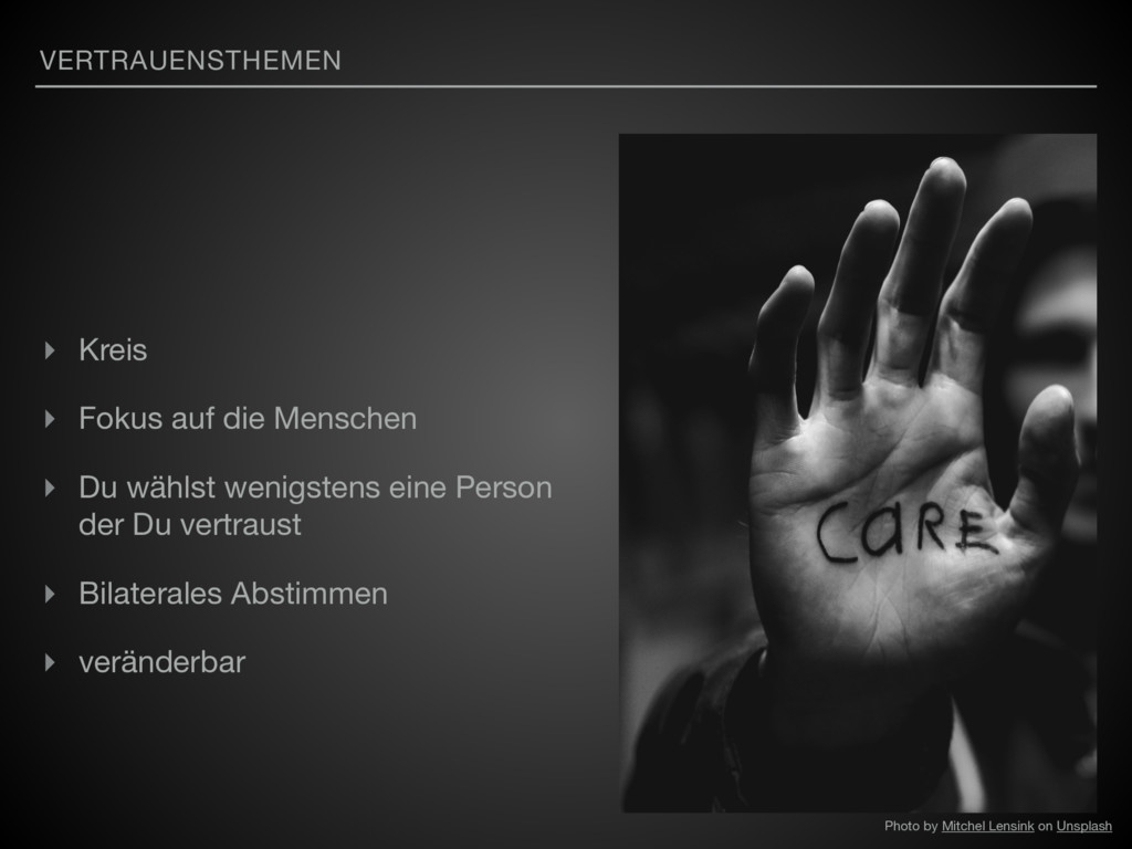 VERTRAUENSTHEMEN ▸ Kreis  ▸ Fokus auf die Mensc...