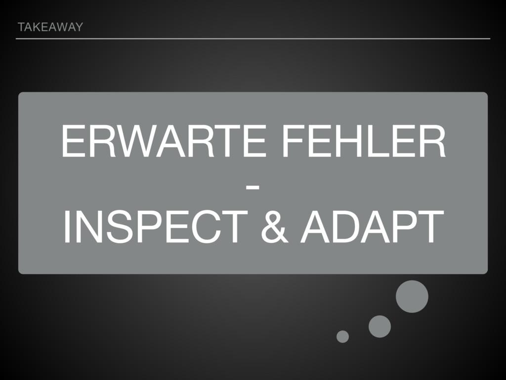 ERWARTE FEHLER  -  INSPECT & ADAPT TAKEAWAY