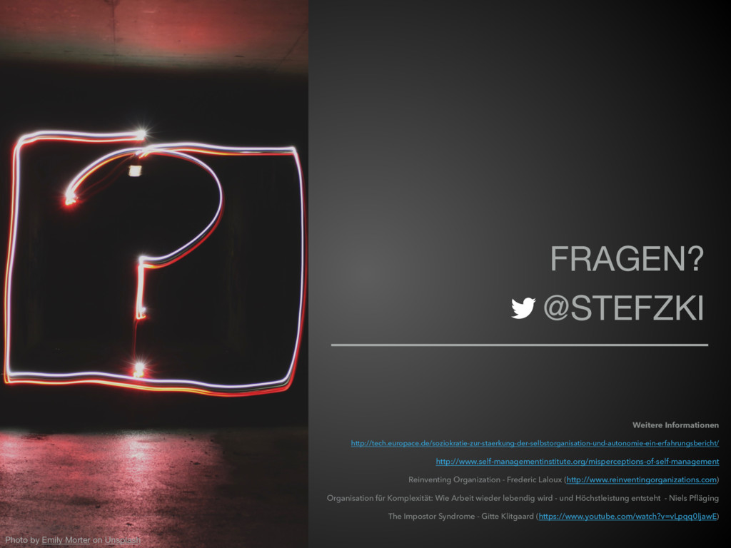FRAGEN?  @STEFZKI Photo by Emily Morter on Unsp...