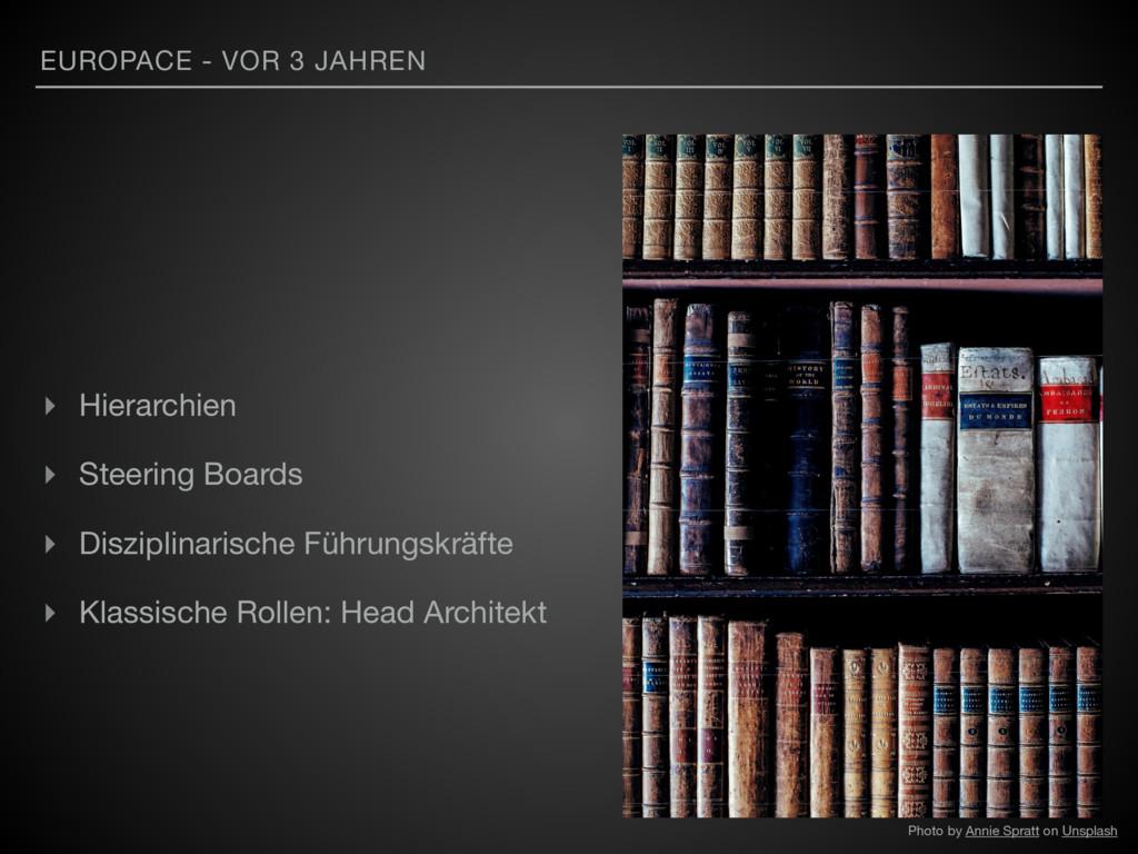 EUROPACE - VOR 3 JAHREN ▸ Hierarchien  ▸ Steeri...