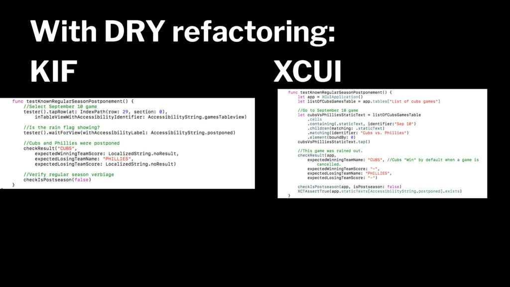 With DRY refactoring: KIF XCUI