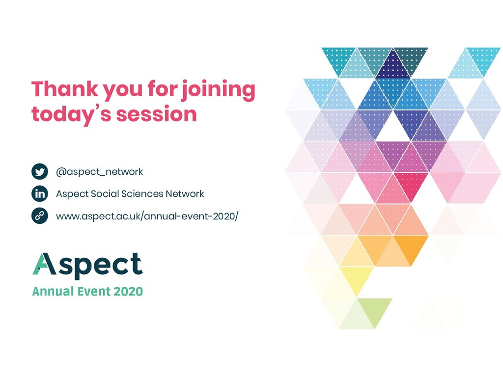 Thank you for joining today's session @aspect_n...