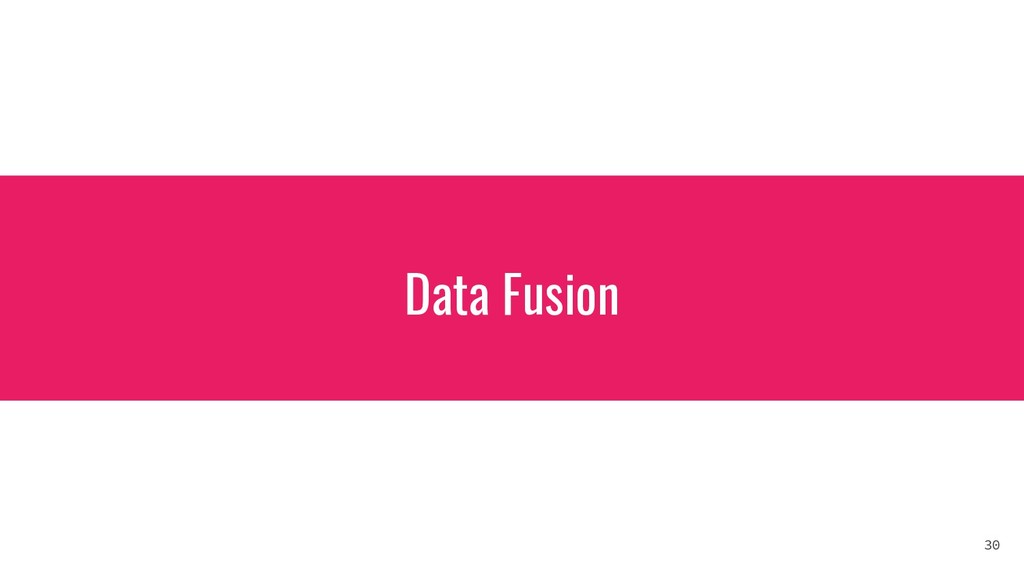 Data Fusion 30