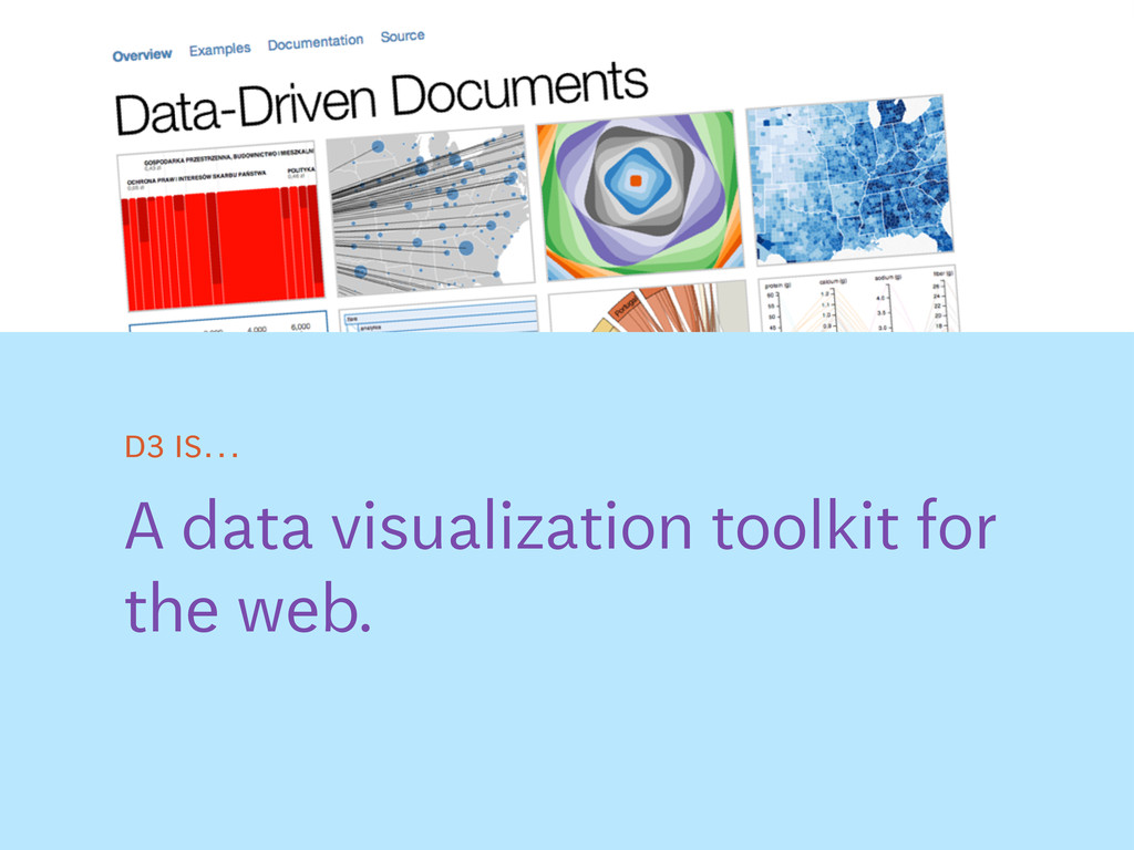 A data visualization toolkit for the web. D3 is…