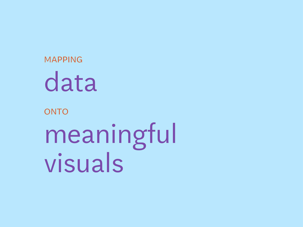 data mapping onto meaningful visuals