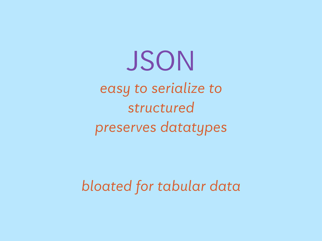 JSON easy to serialize to structured preserves ...