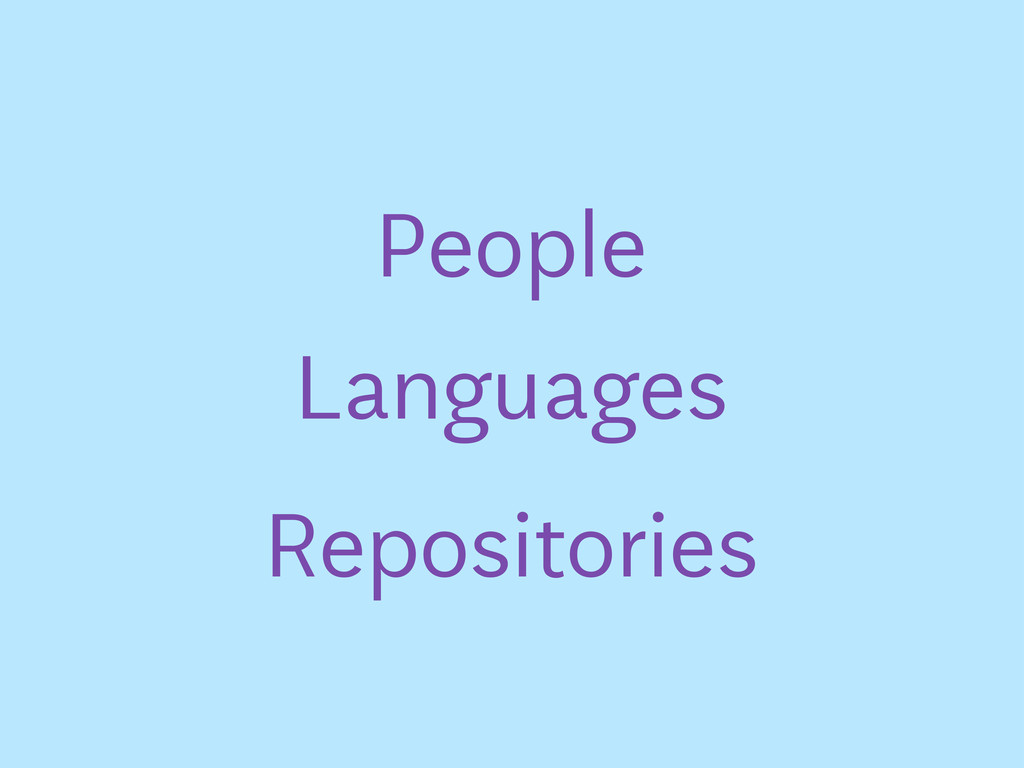 People Languages Repositories