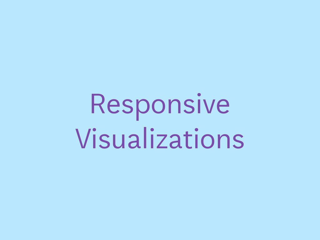 Responsive Visualizations