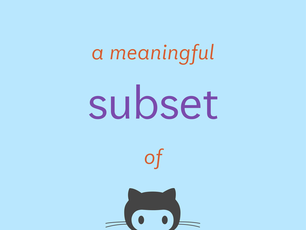 subset a meaningful of