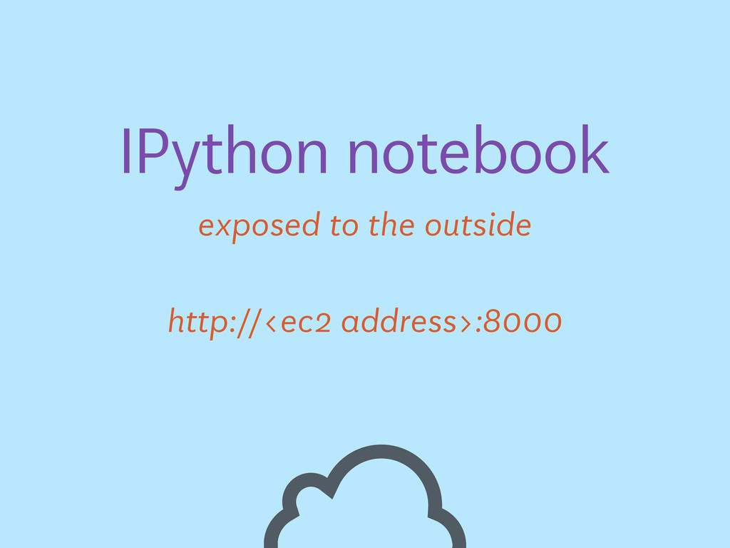 exposed to the outside IPython notebook http://...