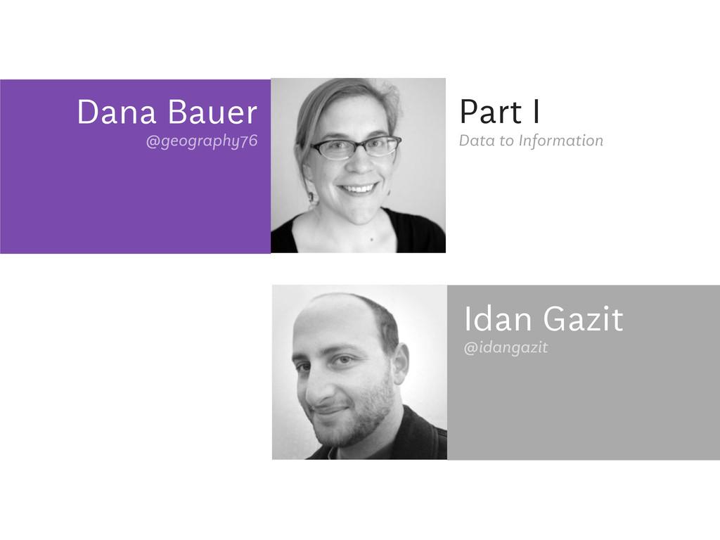 Dana Bauer @geography76 Part I @idangazit Data ...