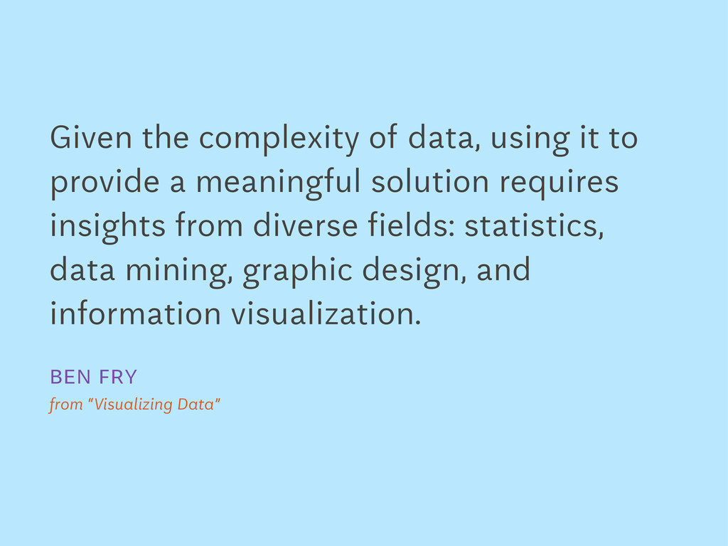 Given the complexity of data, using it to provi...
