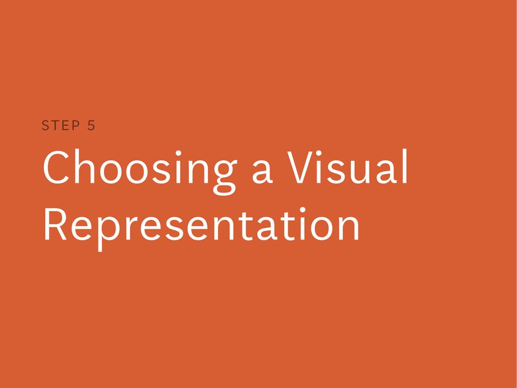 Choosing a Visual Representation STEP 5