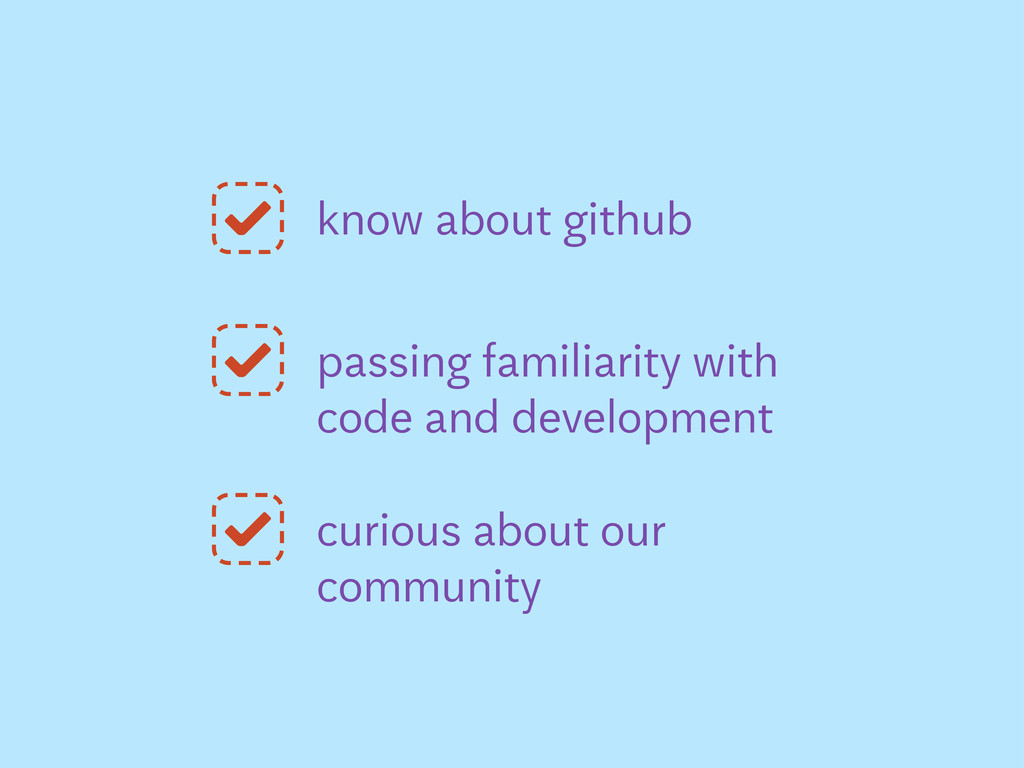 know about github passing familiarity with code...