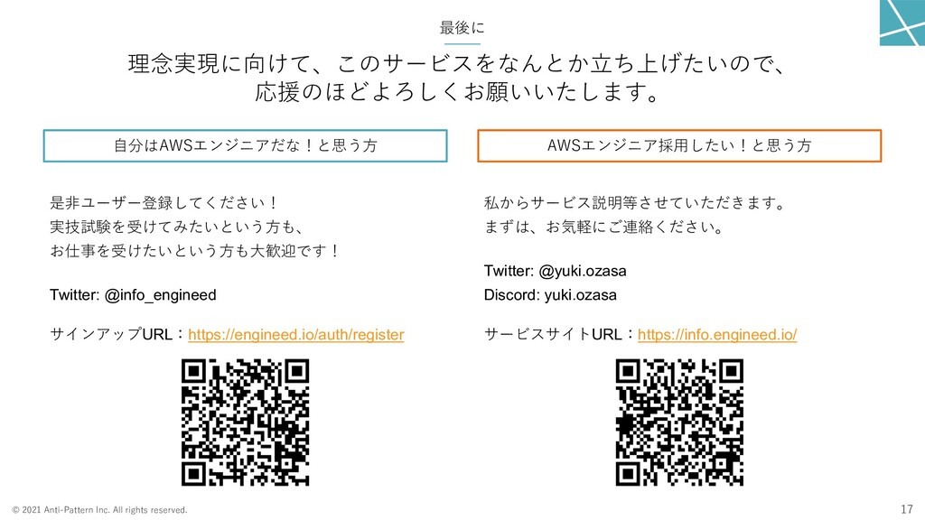 © 2021 Anti-Pattern Inc. All rights reserved. 最...