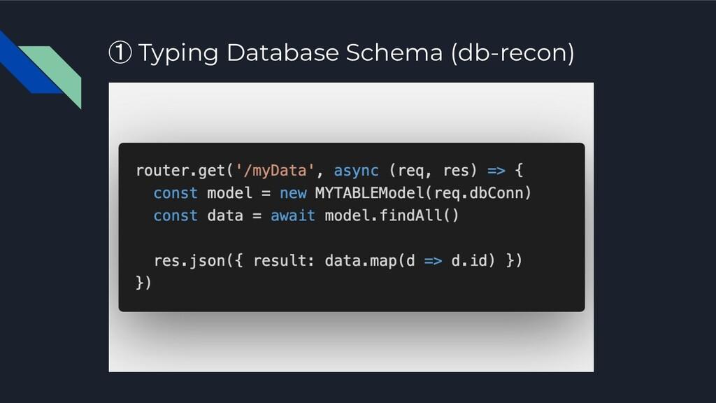 ① Typing Database Schema (db-recon)